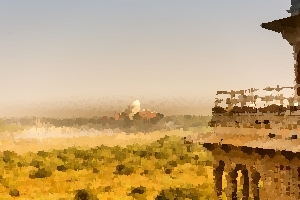 Taj Mahal in distance thumbnail