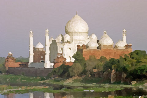 The Taj Mahal By The River Picture