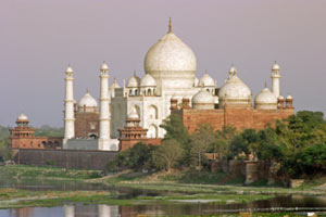 The Taj Mahal by the Yamuna River