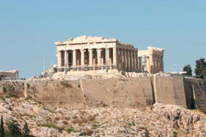 The Acropolis Of Athens Hill