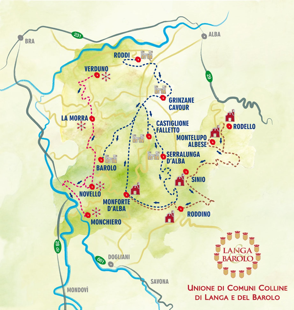 Langhe Italy Map.Langhe Breathtaking Landscapes Picturesque Hamlets And Excellent