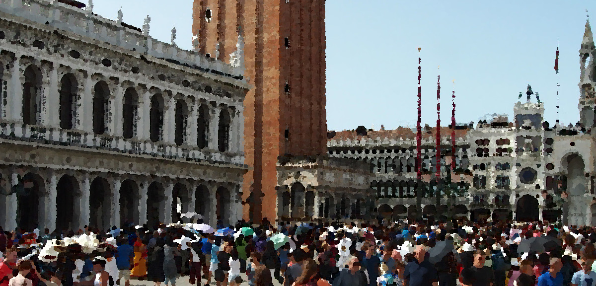 Crowd in Piazza San Marco
