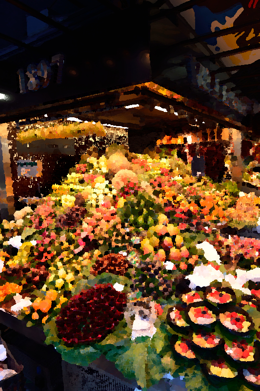 Market fruit stand