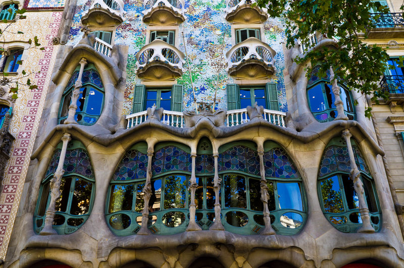 Gaudi facade of house architecture