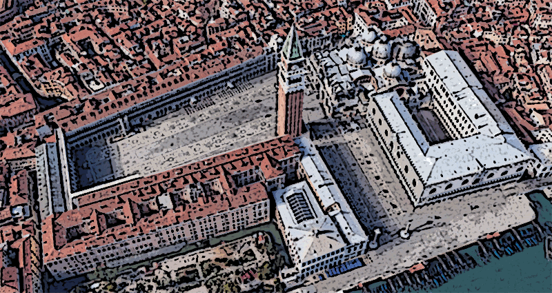 Piazza San Marco - St Mark Square in 3d